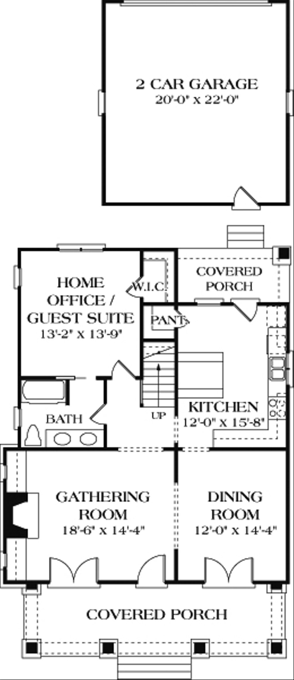 Bungalow style house plan 3 beds 3 baths 2010 sq ft plan for Www homeplans com