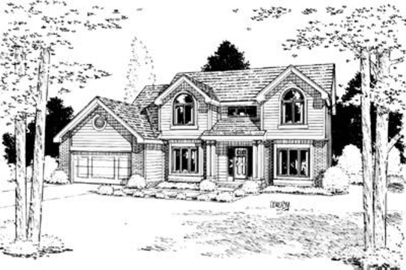 Traditional Exterior - Front Elevation Plan #20-902 - Houseplans.com