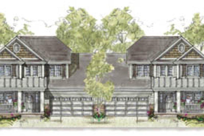 Cottage Exterior - Front Elevation Plan #20-1266