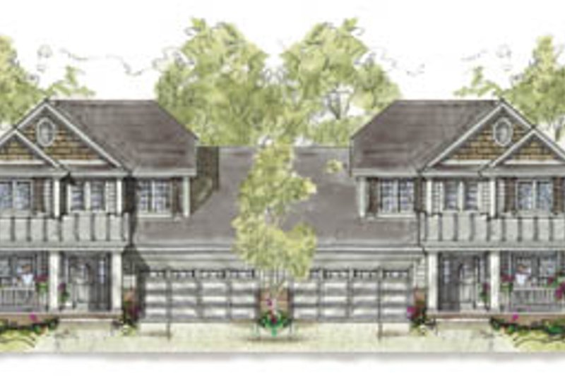 Cottage Exterior - Front Elevation Plan #20-1266