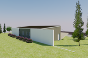 Modern Style House Plan - 3 Beds 3.5 Baths 1937 Sq/Ft Plan #542-11 Exterior - Rear Elevation