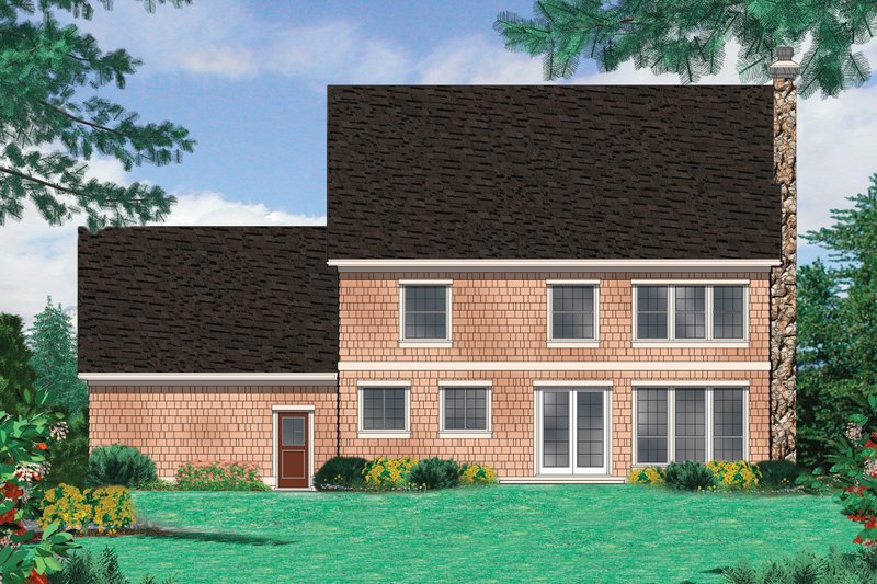 Farmhouse Exterior - Rear Elevation Plan #48-105 - Houseplans.com