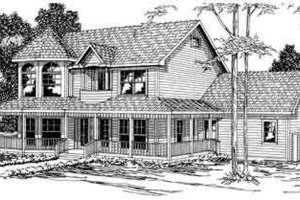 Victorian Exterior - Front Elevation Plan #124-274