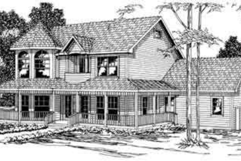Victorian Style House Plan - 4 Beds 2.5 Baths 2812 Sq/Ft Plan #124-274 Exterior - Front Elevation
