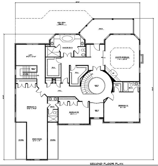 Craftsman Floor Plan - Upper Floor Plan #123-114