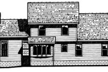 Country Exterior - Rear Elevation Plan #20-2019