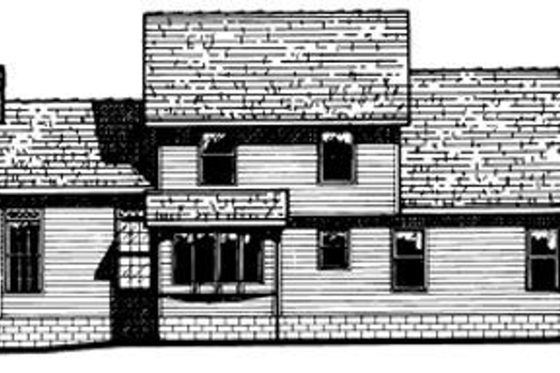 Country Exterior - Rear Elevation Plan #20-2019 - Houseplans.com