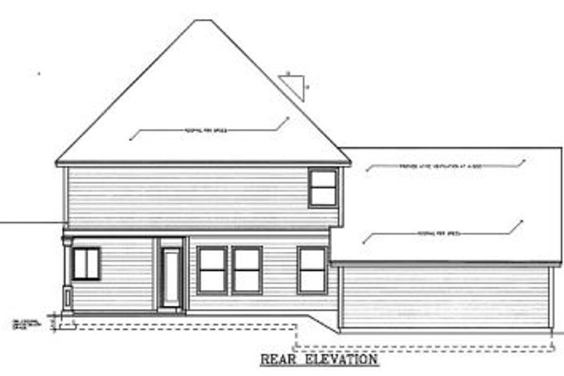 Colonial Exterior - Rear Elevation Plan #97-224 - Houseplans.com