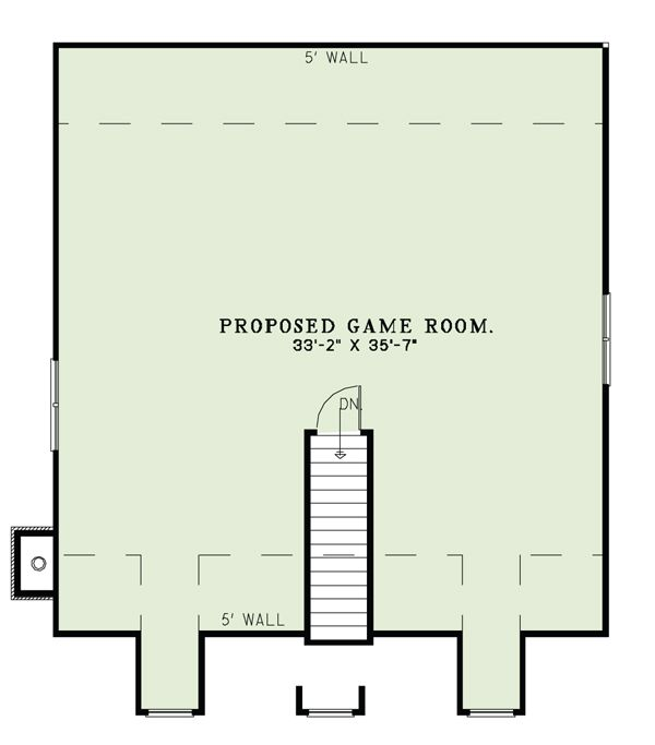 Country Style House Plan - 4 Beds 3 Baths 2180 Sq/Ft Plan #17-2503 Floor Plan - Other Floor Plan