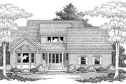 Southern Style House Plan - 3 Beds 2 Baths 2929 Sq/Ft Plan #51-465 Exterior - Rear Elevation