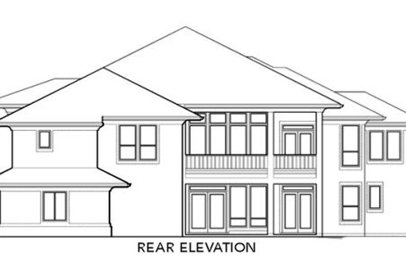 Exterior - Rear Elevation Plan #48-298 - Houseplans.com