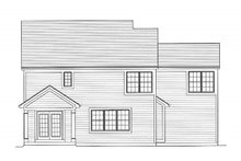 Home Plan - Traditional Exterior - Rear Elevation Plan #46-492