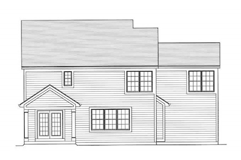 Traditional Exterior - Rear Elevation Plan #46-492 - Houseplans.com