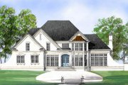 European Style House Plan - 4 Beds 2.5 Baths 2491 Sq/Ft Plan #119-114 Exterior - Front Elevation