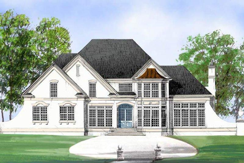 European Exterior - Front Elevation Plan #119-114 - Houseplans.com