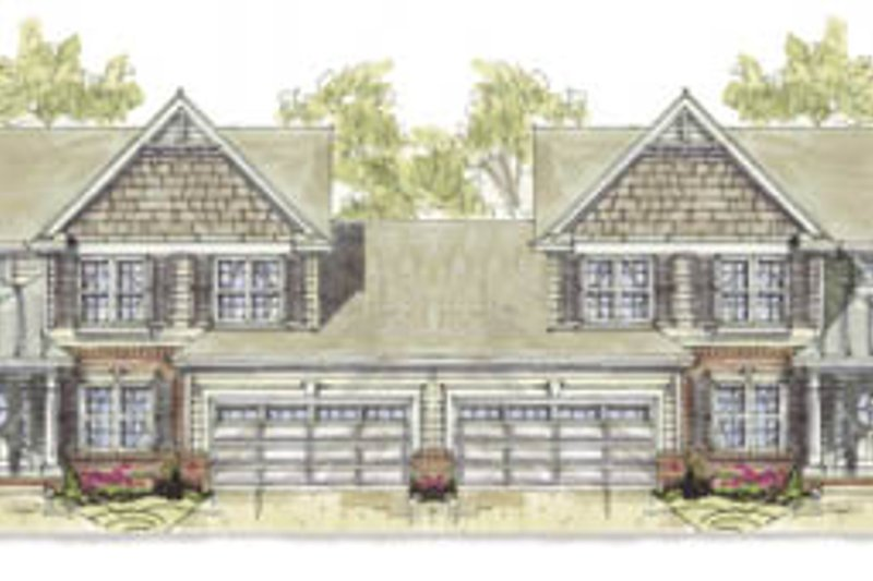 Traditional Style House Plan - 3 Beds 3 Baths 4048 Sq/Ft Plan #20-1276 Exterior - Front Elevation