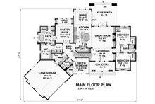 Craftsman Floor Plan - Main Floor Plan Plan #51-573