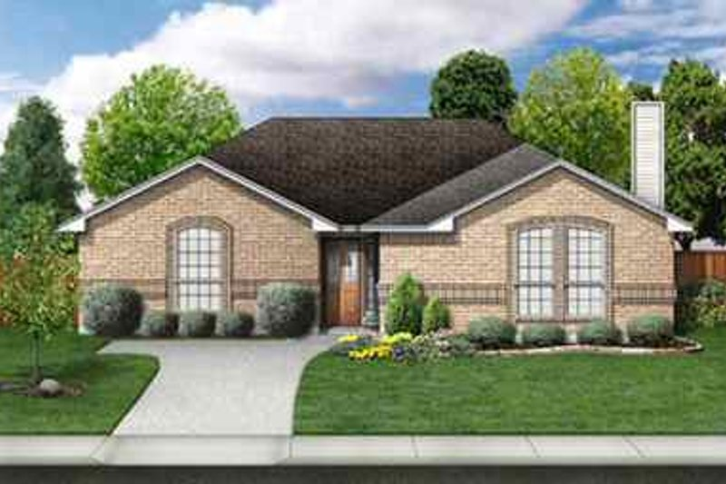 Traditional Exterior - Front Elevation Plan #84-118 - Houseplans.com