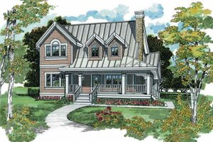 Farmhouse Exterior - Front Elevation Plan #47-384