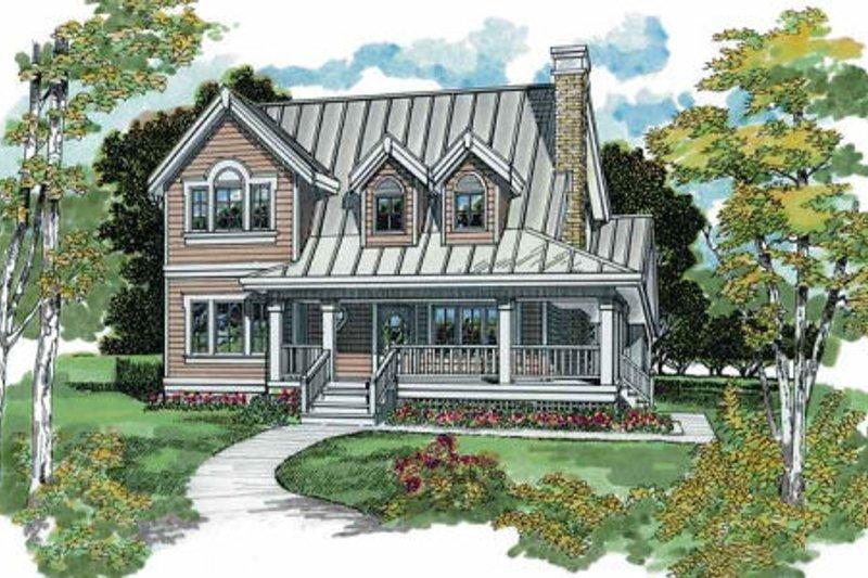 Farmhouse Style House Plan - 3 Beds 2 Baths 1583 Sq/Ft Plan #47-384