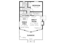 Cabin Floor Plan - Main Floor Plan Plan #18-4501