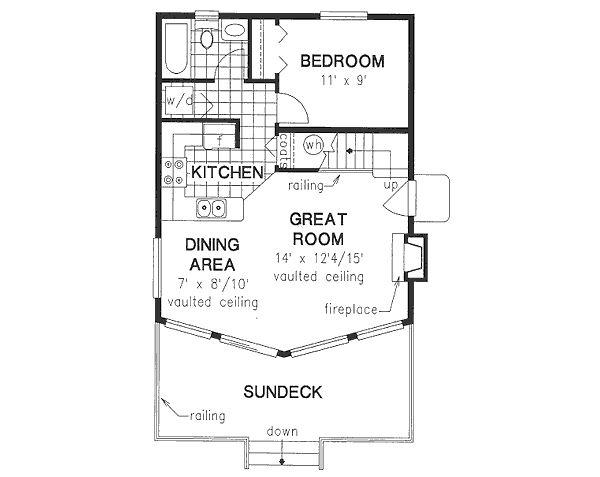 House Design - Cabin Floor Plan - Main Floor Plan #18-4501
