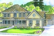 Colonial Style House Plan - 4 Beds 4.5 Baths 3886 Sq/Ft Plan #124-499 Exterior - Other Elevation
