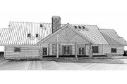 Log Style House Plan - 4 Beds 3 Baths 3280 Sq/Ft Plan #451-4 Exterior - Rear Elevation