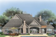 European Style House Plan - 4 Beds 4 Baths 3048 Sq/Ft Plan #929-1 Exterior - Rear Elevation