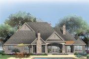 European Style House Plan - 4 Beds 4 Baths 3048 Sq/Ft Plan #929-1 Exterior - Rear Elevation