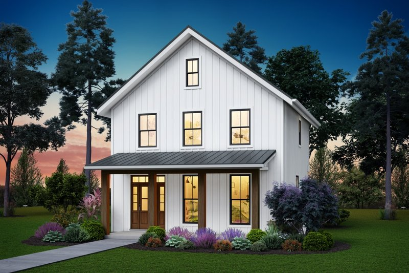 Dream House Plan - Farmhouse Exterior - Front Elevation Plan #48-992