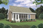 Cottage Style House Plan - 2 Beds 1 Baths 800 Sq/Ft Plan #21-211 Exterior - Rear Elevation