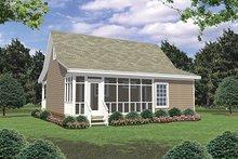 Cottage Exterior - Rear Elevation Plan #21-211