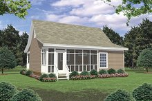 House Plan Design - Cottage Exterior - Rear Elevation Plan #21-211