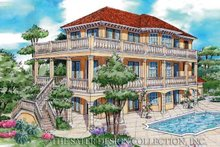 House Plan Design - Mediterranean Exterior - Rear Elevation Plan #930-79
