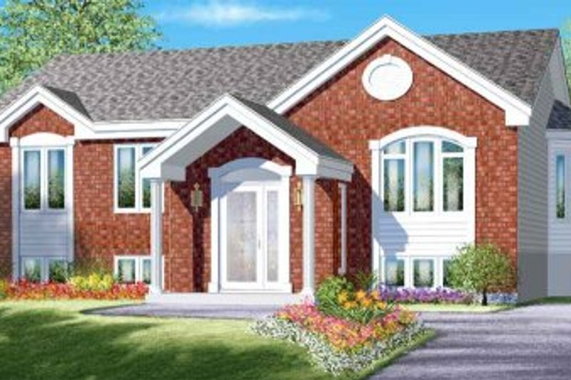 Traditional Style House Plan - 3 Beds 1 Baths 1166 Sq/Ft Plan #25-4096 Exterior - Front Elevation