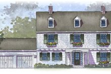 House Plan Design - Colonial Exterior - Front Elevation Plan #901-86
