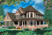 Architectural House Design - Victorian Exterior - Front Elevation Plan #48-108