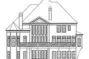 European Style House Plan - 5 Beds 3.5 Baths 3228 Sq/Ft Plan #119-141 Exterior - Rear Elevation