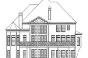 European Style House Plan - 5 Beds 3.5 Baths 3228 Sq/Ft Plan #119-141 Exterior - Rear Elevation
