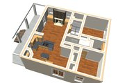 Country Style House Plan - 2 Beds 1 Baths 992 Sq/Ft Plan #44-191 Floor Plan - Other Floor Plan