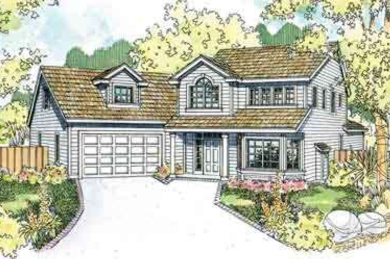 Dream House Plan - Traditional Exterior - Front Elevation Plan #124-523