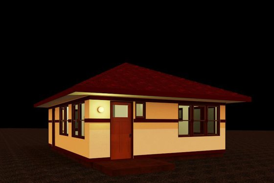 Prairie Exterior - Front Elevation Plan #917-36