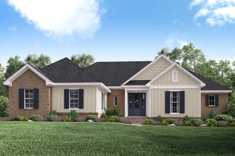 Traditional Style House Plan - 4 Beds 3 Baths 2160 Sq/Ft Plan #430-162 Exterior - Front Elevation