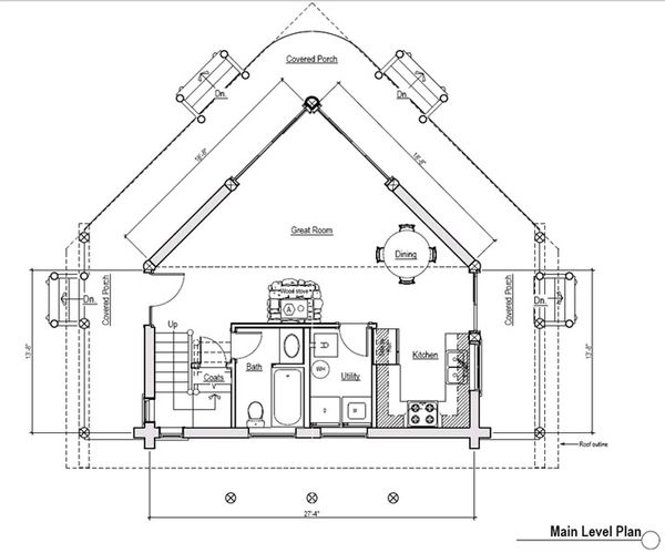 Log Floor Plan - Main Floor Plan Plan #451-9