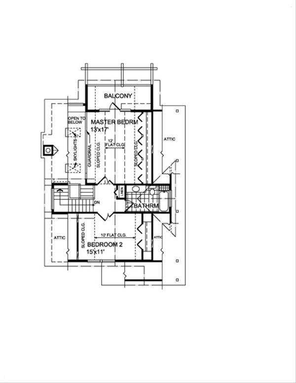 Cottage Floor Plan - Upper Floor Plan #118-118