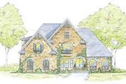 European Style House Plan - 5 Beds 4.5 Baths 3677 Sq/Ft Plan #36-452 Exterior - Front Elevation