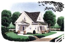 Architectural House Design - Farmhouse Exterior - Front Elevation Plan #410-105