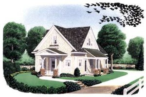 Dream House Plan - Farmhouse Exterior - Front Elevation Plan #410-105