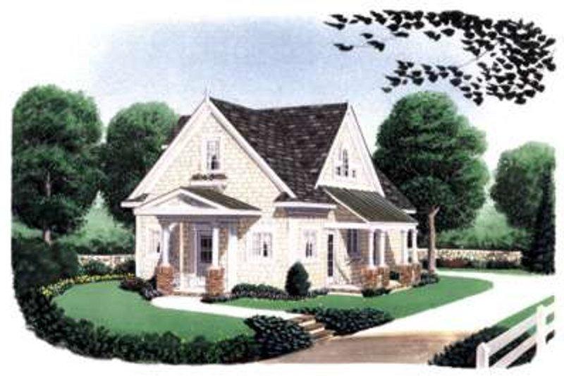 Farmhouse Exterior - Front Elevation Plan #410-105 - Houseplans.com